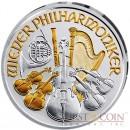 Austria Vienna Philarmonic  €1.5 Euro Gilded 2013 Silver coin 1 oz