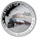 "Silver Colored Coin ROYAL HUDSON 2011, ""History of Railroads"" Series, Liberia"