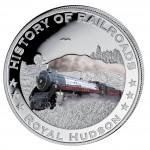 "Silver Colored Coin ROYAL HUDSON 2011, ""History of Railroads"" Series, Liberia"