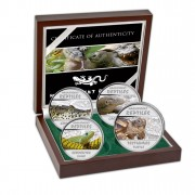 REPTILES 2013 Four Silver Color Coin Set