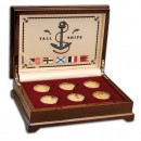 """TALL SHIP"" 2008 Six Gold Coin Set, Cook Islands"