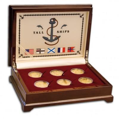"""TALL SHIP"" 2008 Six Gold Coin Set, Cook Islands"
