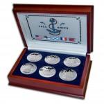 """TALL SHIP"" 2008 Six Silver Coin Set, Cook Islands"