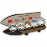 """""""Tanks of WWII"""" 2008 Series II Five Silver Colored Coins Set, Liberia"""