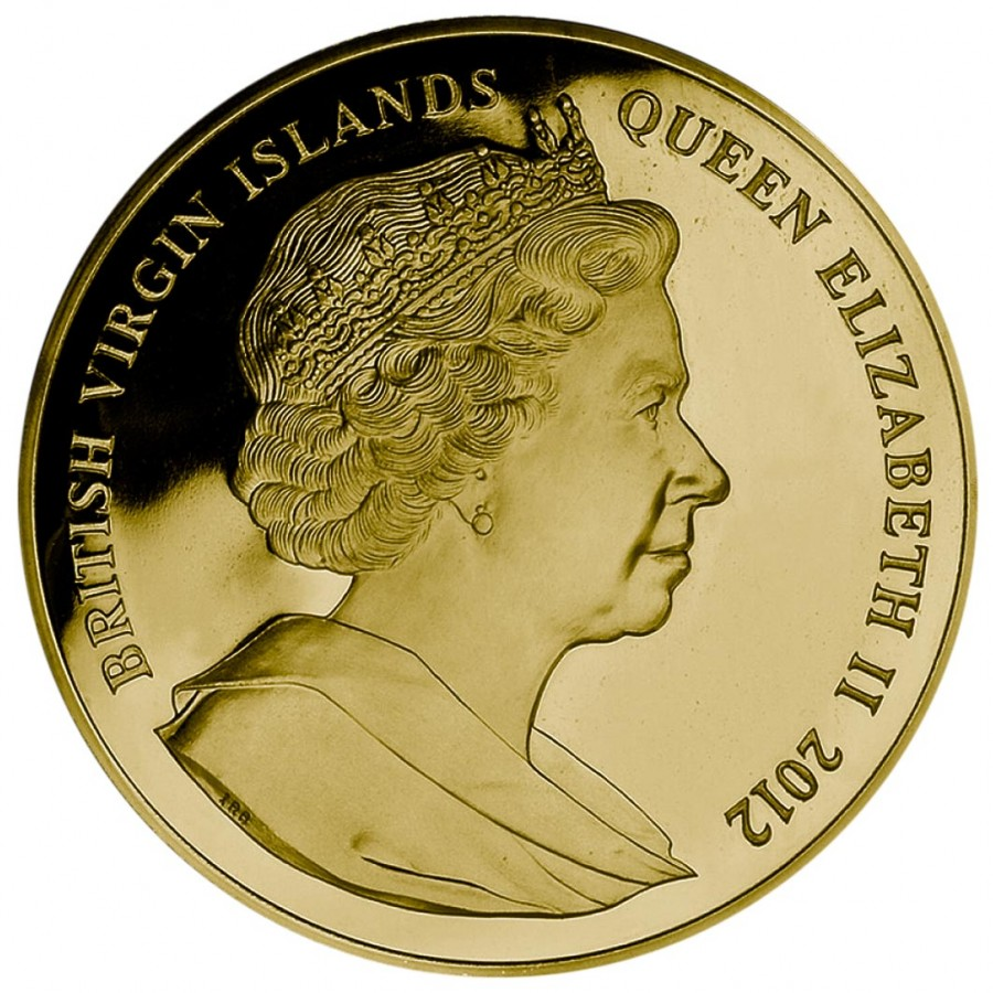 Gold Colored Coin 100 Years Titanic 2012 5 Oz