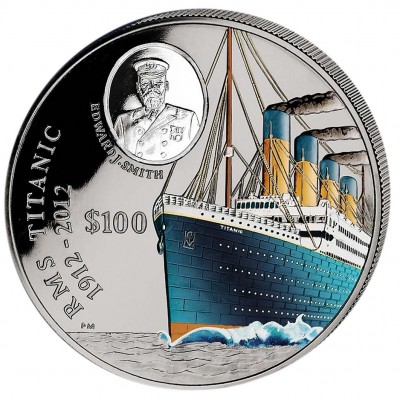 Silver Colored Coin 100 YEARS TITANIC 2012 - 1 KG