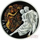 Belarus TANGO 20 Roubles Magic of the Dance series High Relief Colored Silver Coin 2012 Reverse Proof