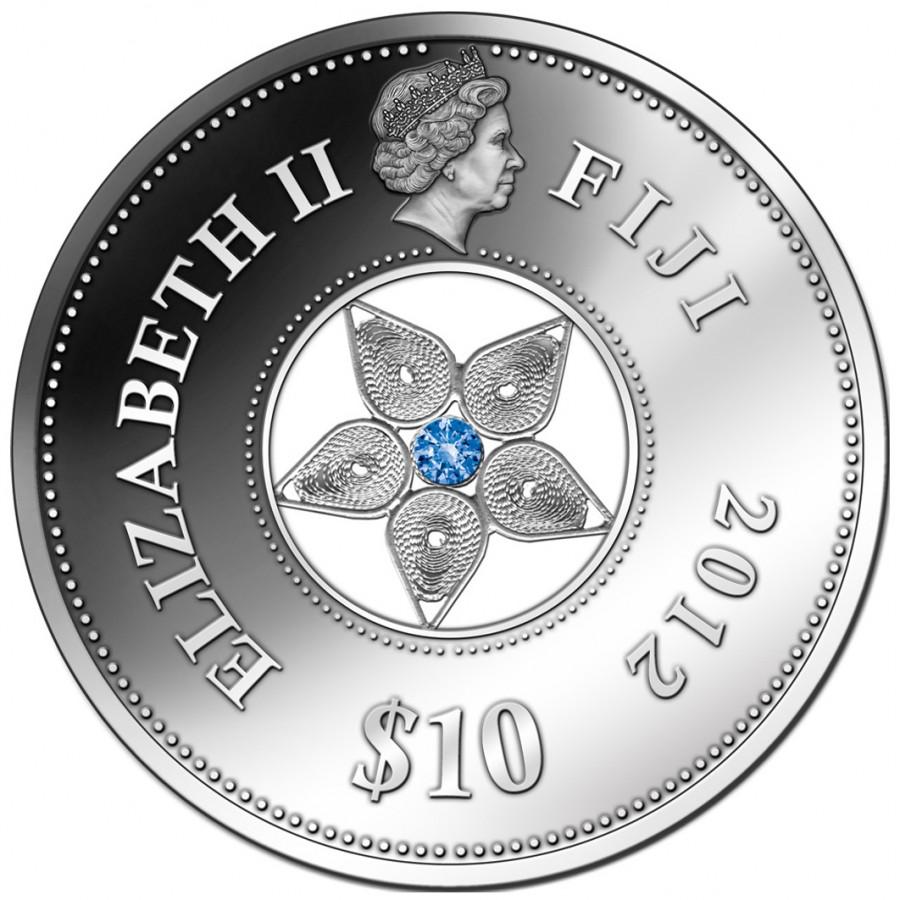 Монета филигрань фиджи 2012 монета николай 2 1905 цена