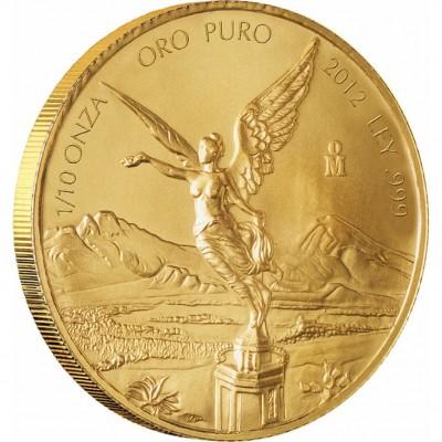 Золотая инвестиционная монета Мексиканский Либертад - 1/10 унции
