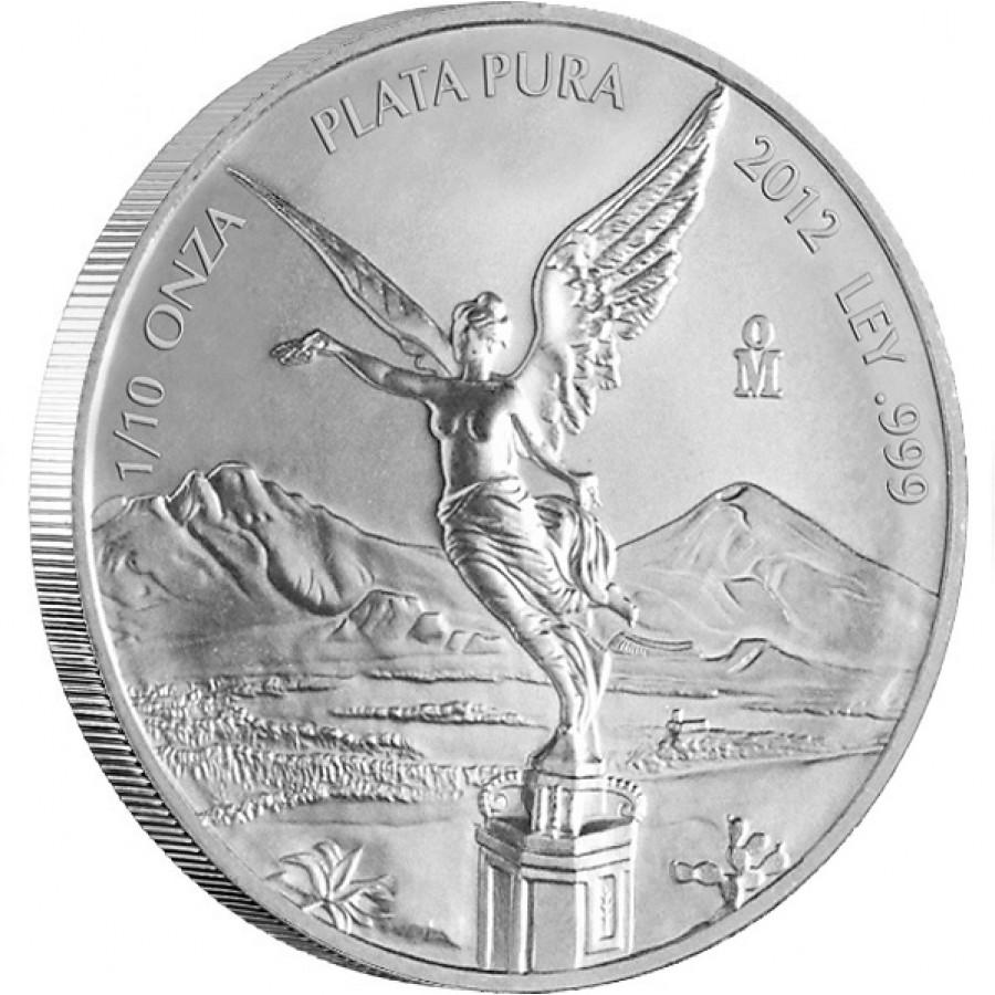 Silver Bullion Coin Mexican Libertad 2012 1 10 Oz