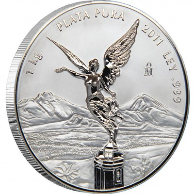 Silver Coin MEXICAN LIBERTAD 2012 Proof Like, Mexico - 1 kilo