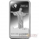 "Solomon Islands RIO DE JANEIRO $1/2 ""Famous World Landmarks"" series Silver coin-bar 2014 Proof"