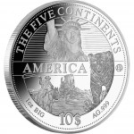"Silver Coin AMERICA 2011 ""The Five Continents of the World"" Series"