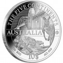 "Silver Coin AUSTRALIA 2011 ""The Five Continents of the World"" Series"