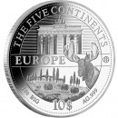 "Silver Coin EUROPE 2011 ""The Five Continents of the World"" Series"
