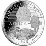 "Silver Coin AFRICA 2011 ""The Five Continents of the World"" Series"