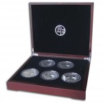 THE FIVE CONTINENTS 2011 Five Silver Coin Set