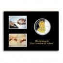 THE CREATION OF ADAM - MICHELANGELO ( 500-TH ANNIVERSARY )  2012 Three Silver Coin Set
