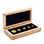 """Gold Maple Leaf"" Series 2012 Five Gold Coin Premium Set - 1oz, 1/4 oz, 1/10 oz, 1/20 oz, 1/25 oz"