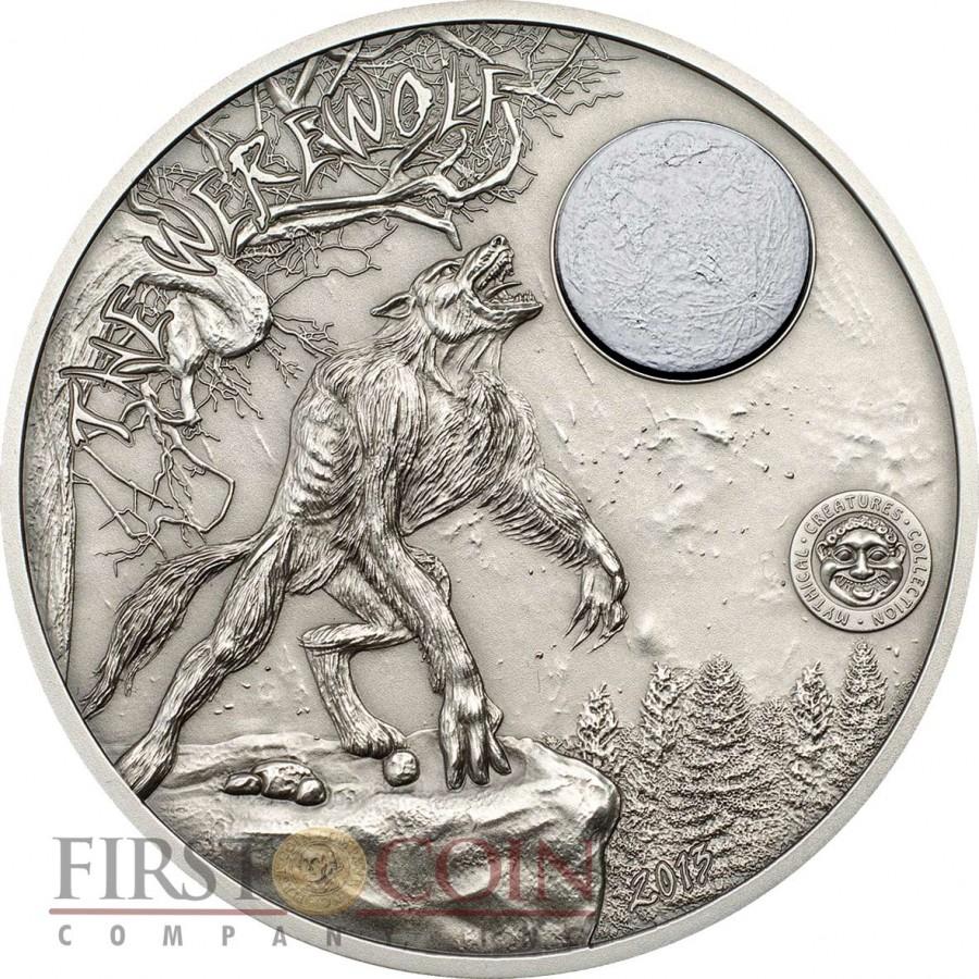 Palau Werewolf Mythical Creatures 2oz Silver Coin Antique