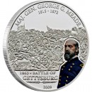 "Silver Coin G.MEADE - GETTYSBURG 2009 ""Great Commanders & Battles"" Series"