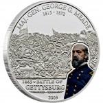 "Silver Coin G.MEADE - GETTYSBURG 2009 ""Great Commanders & Battles"" Series"