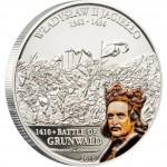 "Silver Coin W.JAGIELLO - GRUNWALD BATTLE 2010 ""Great Commanders & Battles"" Series"