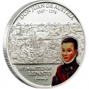 "Silver Coin DON JUAN DE AUSTRIA - BATTLE OF LEPANTO 2010 ""Great Commanders & Battles"" Series"