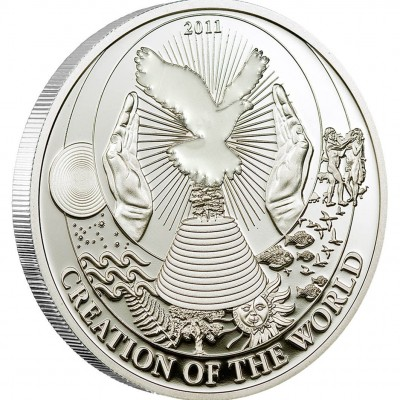 """Silver Coin CREATION OF THE WORLD 2011 """"Biblical Stories"""" Series"""