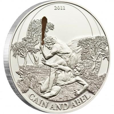 Серебряная монета КАИН И АВЕЛЬ 2011 серии «Библейские Истории»