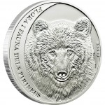 "Silver Coin CANTABRIA BROWN BEAR 2010 ""Flora & Fauna of the Pyrenees"" Series"