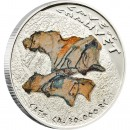 "Silver Coin CAVE OF CHAUVET ""CATS"" 2011 ""Prehistoric Art, Cave Paintings"" Series"