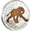 "Silver Coin CAVE OF TADRART ""ELEPHANT"" 2011 ""Prehistoric Art, Cave Paintings"" Series"