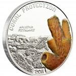 "Silver Coin APLYSINA FISTULARIS 2011 ""Coral Protection"" Series"