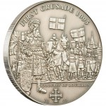 "Silver Coin 1ST CRUSADE: GODFREY OF BOUILLON 2009 ""History of the Crusades"" Series"