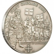 """Silver Coin 1ST CRUSADE: GODFREY OF BOUILLON 2009 """"History of the Crusades"""" Series"""