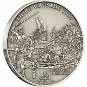 """Silver Coin 3RD CRUSADE: RICHARD THE LIONHEARD 2010 """"History of the Crusades"""" Series"""