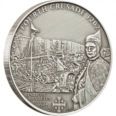 "Silver Coin 4TH CRUSADE: DANDOLO OF VENICE 2010 ""History of the Crusades"" Series"