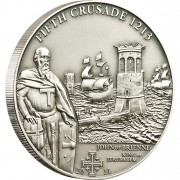 """Silver Coin 5TH CRUSADE: JOHN OF BRIENNE 2011 """"History of the Crusades"""" Series"""