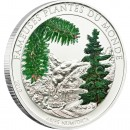 "Cu-Ni Silver-Plated Coin ABIES NUMIDICA ALPINE SMELL 2010 ""Famous Plants"" Series"