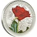 "Cu-Ni Silver-Plated Coin ROSA INDICA FRAGRANS 2011 ""Famous Plants"" Series"