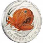 "Silver Coin ANOPLOGASTER CORNUTA 2011 ""Deep Sea Fish"" Series"