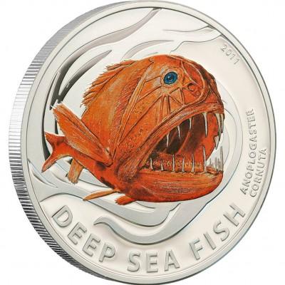 "Silver Coin ANOPLOGASTER CORNUTA 2011 ""Deep Sea Fish"" Series"
