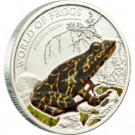 "Silver Coin ATELOPUS CERTUS ORANGE 2011 ""World of Frogs"" Series"