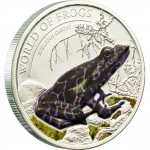 "Silver Coin ATELOPUS CERTUS PURPLE 2011 ""World of Frogs"" Series"