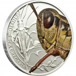 "Silver Coin GRASSHOPPER 2010 ""World of Insects"" Series"