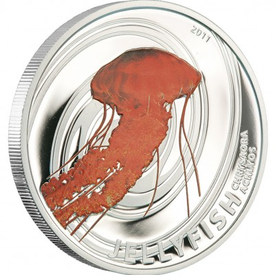 """Silver Coin CHRYSAORA ACHLYOS 2011 """"Jelly Fish"""" Series"""