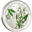 "Cu-Ni Silver-Plated Coin LILY OF THE VALLEY 2011 ""Famous Plants"" Series"