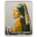 "Silver Coin JOHANNES VERMEER- GIRL WITH PERL 2009 ""Masters of Europe"" Series"