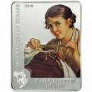 "Silver Coin VASILY TROPININ - THE LACE MAKER 2010 ""Masters of Europe"" Series"